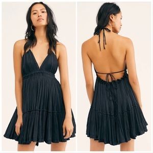 100 Degrees Of Shine Black Mini Dress